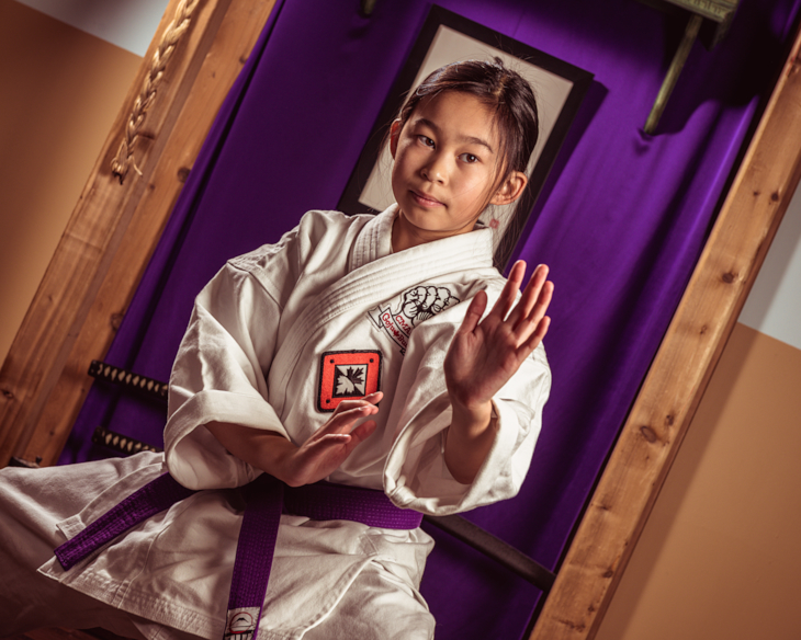 karate girl portrait