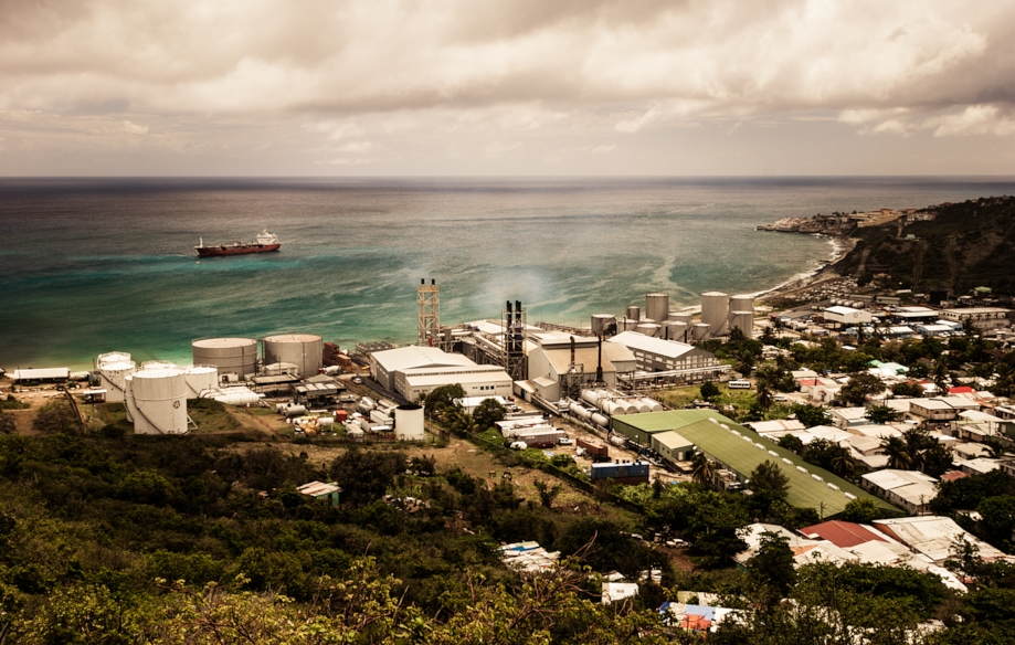 Oil refinery, Saint Martin